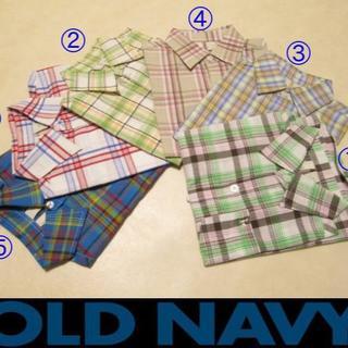 新品★⑥オールドネイビー 半袖チェックシャツ OLD NAVY(Tシャツ/カットソー)