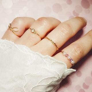 リボン編みリングセット(リング(指輪))