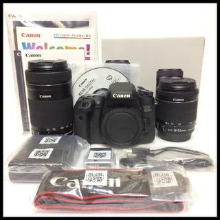 キヤノン(Canon)のほぼ未使用 CANON EOS 8000D ダブルズームキッ(デジタル一眼)