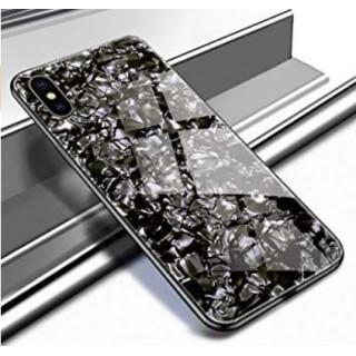 黒★iPhone 7/8plus アイフォンケース 鏡面★キラキラ  シェル(iPhoneケース)