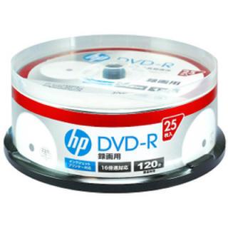 ヒューレットパッカード(HP)の 録画用DVD-R 25P インクジェットプリンター対応 CPRM対応(DVDプレーヤー)