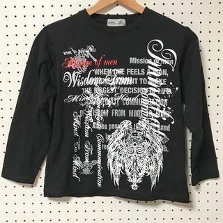 【未使用】140cmラメプリント長袖シャツ(Tシャツ/カットソー)