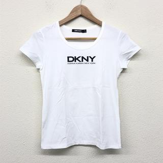 ダナキャランニューヨーク(DKNY)の ダナキャラン DKNYC 白 Tシャツ S ロゴプリント ホワイト (Tシャツ(半袖/袖なし))