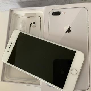 アップル(Apple)のiPhone8plus 白  256GB  SiMフリー  割れあり(スマートフォン本体)