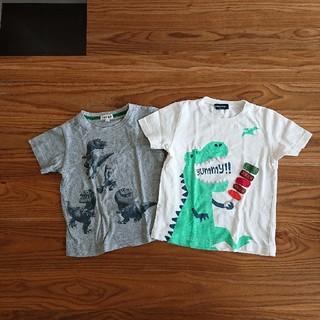 クレードスコープ(kladskap)の恐竜 Tシャツ 90-100(Tシャツ/カットソー)