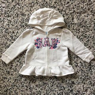 ベビーギャップ(babyGAP)のbabyGAP パーカー 白 size:90cm(ジャケット/上着)