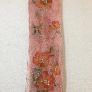 花柄 ピンク ショール ストール フォーマル(マフラー/ショール)