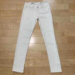 アドリアーノゴールドシュミット(ADRIANO GOLDSCHMIED)のAG stilt白スキニーデニム size27R  G03(スキニーパンツ)