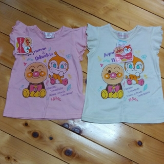 アンパンマン(アンパンマン)の新品 アンパンマン ドキンちゃん Tシャツ 女の子 90 95 双子 姉妹(Tシャツ/カットソー)