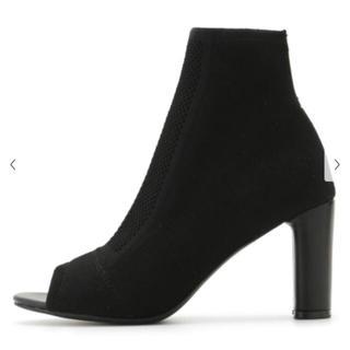 スナイデル(snidel)の❤️完売品❤️ スナイデル ニットショートブーツ ショートブーツ 黒 黒色 ♡(ブーツ)