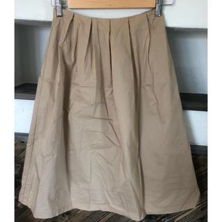 ジーユー(GU)のGU ベージュ スカート(ひざ丈スカート)