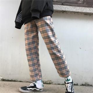 新品 チェック柄 タータンチェック 茶色チェック ズボン(カジュアルパンツ)