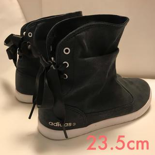 アディダス(adidas)のアディダス  ショートブーツ NEO LABEL レディース 黒 ブラック(ブーツ)
