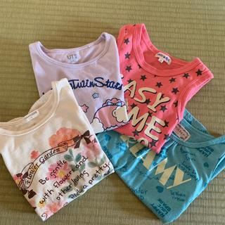 女の子Tシャツ 2枚、タンクトップ2枚 120センチ(Tシャツ/カットソー)