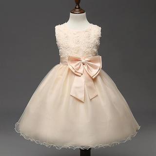 セール!新品❤️キッズドレス シャンパンベージュ 80㎝❤️結婚式(セレモニードレス/スーツ)