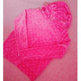 ジーユー(GU)の猫耳ルームウェア GU 濃いめピンクでかわいい♪(ルームウェア)