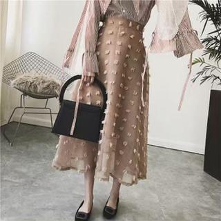 フレイアイディー(FRAY I.D)の新品 オーガンジードットフレアスカート(ロングスカート)