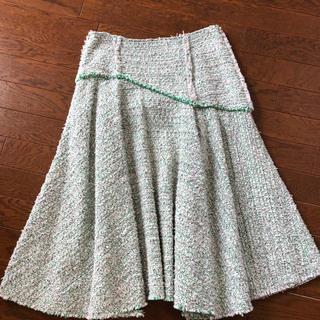 ドゥロワー(Drawer)のDrawer ツイード スカート CYCLAS、ブラミンク 好きの方に 完売(ひざ丈スカート)