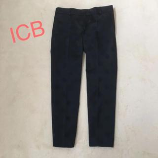 アイシービー(ICB)のICB ドット柄 パンツ 黒(カジュアルパンツ)
