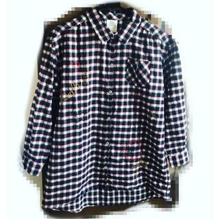 スカラー(ScoLar)の刺繍チェックビッグシャツ(シャツ/ブラウス(長袖/七分))