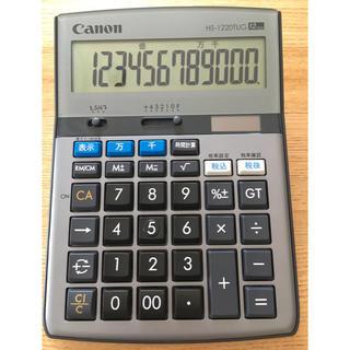 キヤノン(Canon)のキャノン 電卓 12桁 卓上時間計算 千万単位機能 HS-1220TUG グレー(オフィス用品一般)