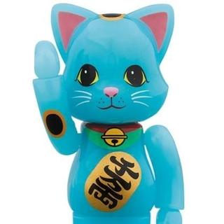 MEDICOM TOY - 【送料込】青蓄光 100% ニャーブリック ソラマチ 招き猫 新品