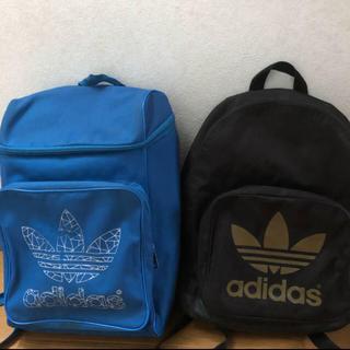 アディダス(adidas)のadidas アディダス リュック バックパック 青 黒(バッグパック/リュック)