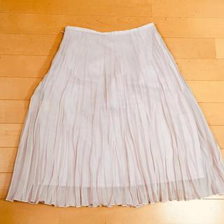 ヨンドシー(4℃)の4℃ ピンクベージュ プリーツスカート(ひざ丈スカート)