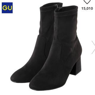 ジーユー(GU)のシーズンオフにつき値下げ♪GU スエードタッチストレッチブーツ 美品(ブーツ)