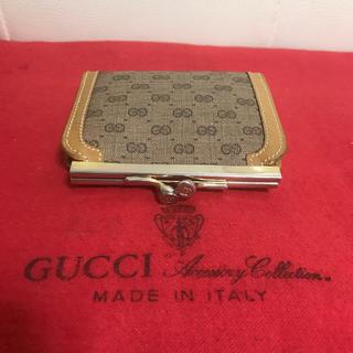 f8535e588045 グッチ(Gucci)の美品 GUCCI オールド グッチ がま口 小銭入れ マイクロ GG 財布