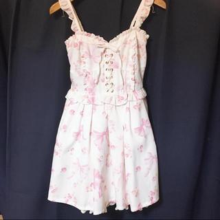 リズリサ(LIZ LISA)のリズリサ リボン柄スカート(ひざ丈スカート)