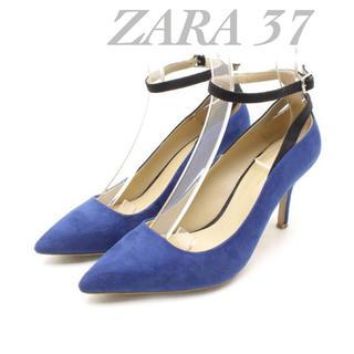 ザラ(ZARA)のザラ バイカラー パンプス 37(ハイヒール/パンプス)