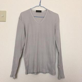 ニコル(NICOLE)の《ニコル》メンズ Vネック 長袖Tシャツ グレー色 50(LL)サイズ(Tシャツ/カットソー(七分/長袖))