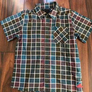 アディダス(adidas)のアディダス 半袖 チェックシャツ 140㎝(Tシャツ/カットソー)