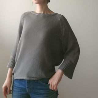トゥモローランド(TOMORROWLAND)のMACPHEE バイヤス編み リネン混 ニット(ニット/セーター)