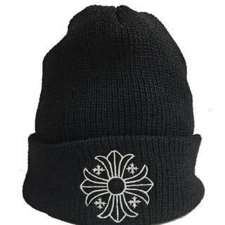 Chrome Hearts - クロムハーツ クロスボール ニット帽 黒