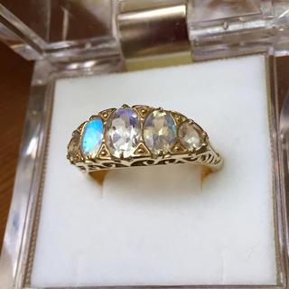 美品 ベーネベーネ   k18ロイヤルブルームーンストーンアンティークリング(リング(指輪))
