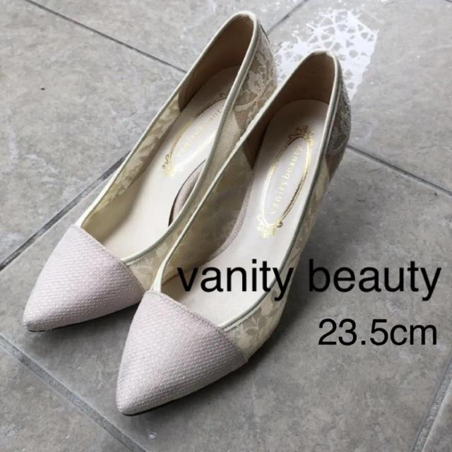 vanitybeauty(バニティービューティー)のvanitybeauty 白 レース パンプス レディースの靴/シューズ(ハイヒール/パンプス)の商品写真