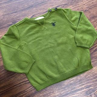 バーバリー(BURBERRY)のバーバリー チルドレン 綿素材 薄手 長袖 ニット 12m 80cm(ニット/セーター)