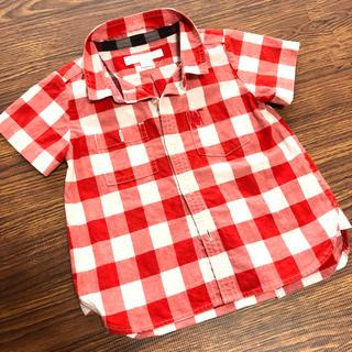 バーバリー(BURBERRY)のバーバリー チルドレン 半袖シャツ チェック 12m 80cm(シャツ/カットソー)