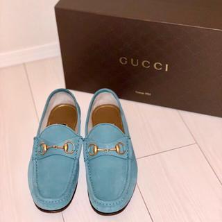 グッチ(Gucci)の★GUCCI グッチ ホースビット スウェード ローファー サイズ5 1/2★(ドレス/ビジネス)