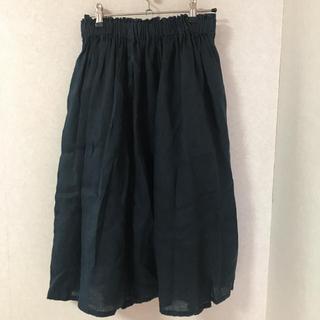 ムジルシリョウヒン(MUJI (無印良品))のロングスカート(ひざ丈スカート)