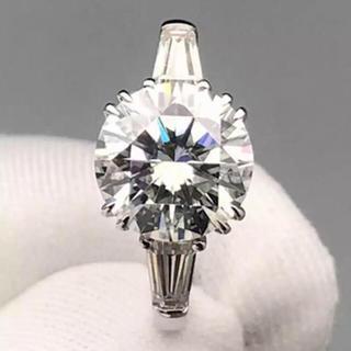 【3カラット 】輝く モアサナイト ダイヤモンド リング(リング(指輪))
