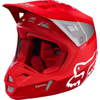 シュプリーム(Supreme)の国内未発売!18ss Supreme×Fox Racing V2 Helmet赤(モトクロス用品)