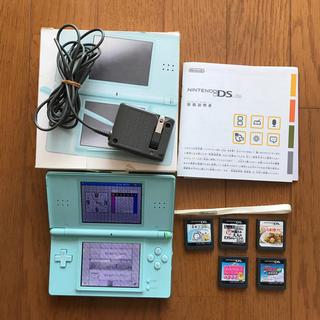 ニンテンドーDS - 任天堂 DS Lite Ice Blue ソフト5本付き