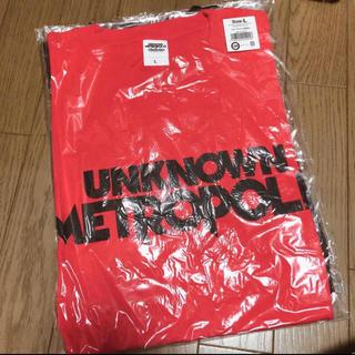 サンダイメジェイソウルブラザーズ(三代目 J Soul Brothers)の三代目JSB UNKNOWN METOROPOLIZ Tシャツ赤(Tシャツ(半袖/袖なし))