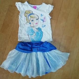 ディズニー(Disney)のシンデレラ Tシャツ&スカートセット(Tシャツ/カットソー)