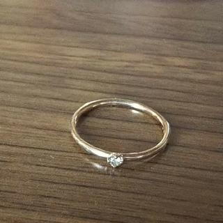 ブラウンダイヤのピンキーリング☆ゴールド(リング(指輪))