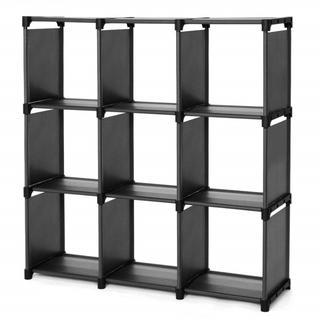 新品未使用★クローゼット 収納ボックス  組み立て式  DIY収納棚  ブラック(棚/ラック/タンス)