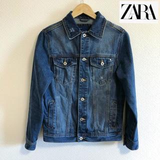 ザラ(ZARA)のZARA メンズ デニムジャケット ミディアムブルー S 美品(Gジャン/デニムジャケット)